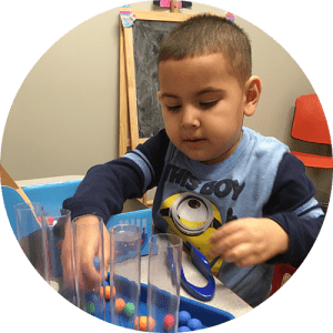 Develop fine motor control, motor planning and age appropriate self-help skills